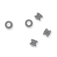 Spool Bead 3x3mm Nickel Silver (10-Pcs)