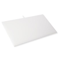 Standard Size White Leatherette Display Pad