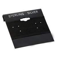 Earring Card Black