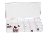 8 Inch 12 Compartment Clear Plastic Storage Box