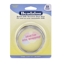 Beadalon Stainless Steel Wire Round 22ga (33 Feet)