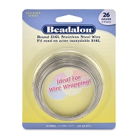 Beadalon Stainless Steel Wire Round 26ga (65 Feet)
