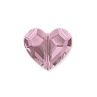 Swarovski Crystal Love Bead 5741 8mm Crystal Antique Pink (1-Pc)