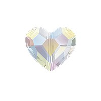 Swarovski Crystal Love Bead 5741 8mm Crystal AB (1-Pc)