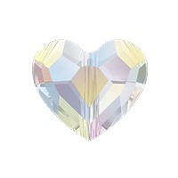 Swarovski Crystal Love Bead 5741 12mm Crystal AB (1-Pc)