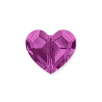 Swarovski Crystal Love Bead 5741 8mm Fuchsia (1-Pc)