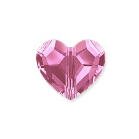 Swarovski Crystal Love Bead 5741 8mm Rose  (1-Pc)