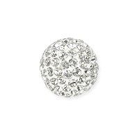 Swarovski Crystal Pave Ball Bead 10mm Crystal (1-Pc)