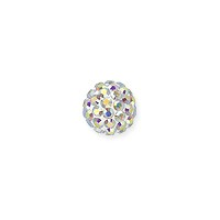 Swarovski Crystal Pave Ball Bead 6mm Crystal AB (1-Pc)