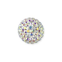 Swarovski Crystal Pave Ball Bead 10mm Crystal AB (1-Pc)