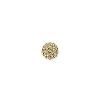 Swarovski Crystal Pave Ball Bead 4mm Crystal Golden Shadow (1-Pc)
