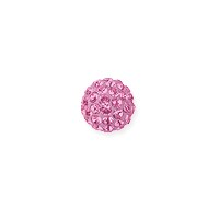 Swarovski Crystal Pave Ball Bead 6mm Light Rose (1-Pc)