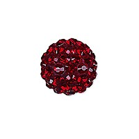 Swarovski Crystal Pave Ball Bead 10mm Siam (1-Pc)