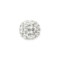 Swarovski Crystal Pave Pure Ball Half-Drilled Bead 8mm Crystal (1-Pc)