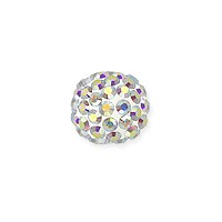 Swarovski Crystal Pave Pure Ball Half-Drilled Bead 8mm Crystal AB (1-Pc)