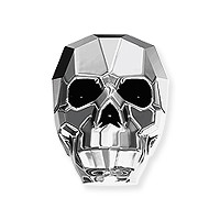 Swarovski Skull Bead 5750 Crystal Light Chrome 13mm (1-Pc)