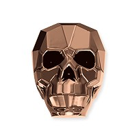 Swarovski Skull Bead 5750 13mm Crystal Rose Gold 2X (1-Pc)