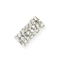 Swarovski Fine Rocks Tube Bead 5951 15x6mm Crystal Moonlight (1-Pc)