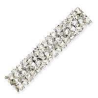 Swarovski Fine Rocks Tube Bead 5951 30x6mm Crystal Moonlight (1-Pc)
