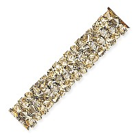 Swarovski Fine Rocks Tube Bead 5951 30x6mm Crystal Golden Shadow (1-Pc)