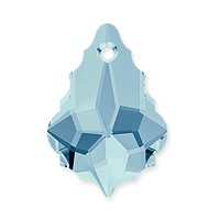 Swarovski Crystal Baroque Pendant 6090 16x11mm Aquamarine (1-Pc)