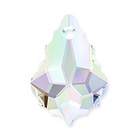 Swarovski Crystal Baroque Pendant 6090 16x11mm Crystal AB (1-Pc)