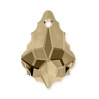 Swarovski Crystal Baroque Pendant 6090 16x11mm Crystal Golden Shadow (1-Pc)