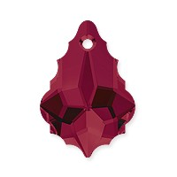 Swarovski Crystal Baroque Pendant 6090 16x11mm Ruby (1-Pc)