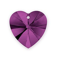 Swarovski Crystal Heart Pendant 6228 14mm Amethyst (1-Pc)