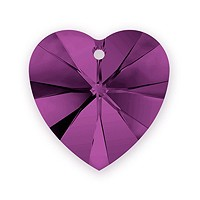 Swarovski Crystal Heart Pendant 6228 18mm Amethyst (1-Pc)