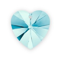 Swarovski Crystal Heart Pendant 6228 14mm Aquamarine (1-Pc)