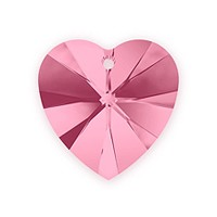 Swarovski Crystal Heart Pendant 6228 14mm Light Rose (1-Pc)