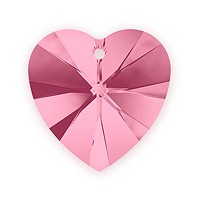 Swarovski Crystal Heart Pendant 6228 18mm Light Rose (1-Pc)