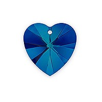 Swarovski Heart Crystal Pendant 6228 10mm Crystal Bermuda Blue (1-Pc)