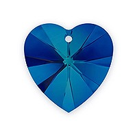 Swarovski Heart Pendant 6228 14mm Crystal Bermuda Blue (1-Pc)