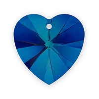 Swarovski Heart Pendant 6228 18mm Crystal Bermuda Blue (1-Pc)