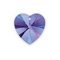 Swarovski Heart Crystal Pendant 6228 10mm Crystal Heliotrope (1-Pc)