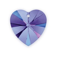 Swarovski Heart Pendant 6228 14mm Crystal Heliotrope (1-Pc)