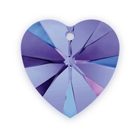 Swarovski Heart Pendant 6228 18mm Crystal Heliotrope (1-Pc)