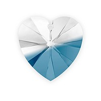 Swarovski Heart Pendant 6228 14mm Crystal/Montana Blue Blend (1-Pc)