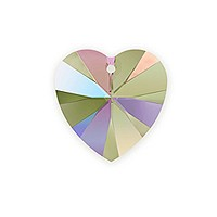 Swarovski 6228 10mm Crystal Paradise Shine Heart Pendant (1-Pc)