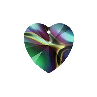 Swarovski Heart Crystal Pendant 6228 10mm Crystal Rainbow Dark (1-Pc)