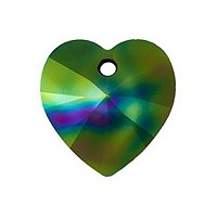 Swarovski Heart Crystal Pendant 6228 14mm Crystal Rainbow Dark (1-Pc)