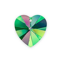 Swarovski Heart Crystal Pendant 6228 10mm Crystal Vitrail Medium (1-Pc)