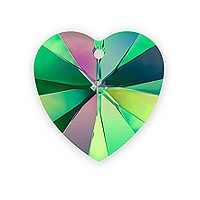 Swarovski Heart Pendant 6228 14mm Crystal Vitrail Medium (1-Pc)