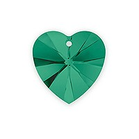 Swarovski Heart Crystal Pendant 6228 10mm Emerald (1-Pc)