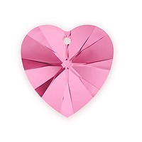 Swarovski Crystal Heart Pendant 6228 14mm Rose (1-Pc)
