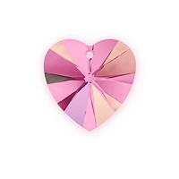 Swarovski Crystal Heart Pendant 6228 10mm Rose AB (1-Pc)