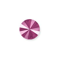 Swarovski 1122 12mm Crystal Peony Pink Rivoli Chaton (1-Pc)