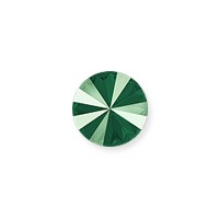 Swarovski 1122 12mm Crystal Royal Green Rivoli Chaton (1-Pc)